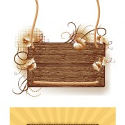 Link toWood photo frame vector