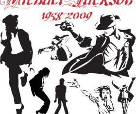 Michael Jackson action Vector
