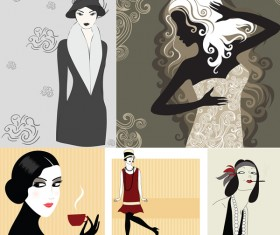 Elements of woman. Vector