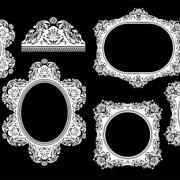 Link toAntique floral frame vector