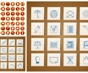 circular and the hand icon vector