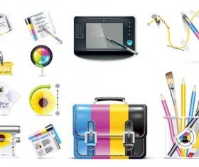 Special icon design elements vector