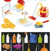 Link toIcon cleaning supplies vector