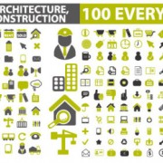 Link toArchitectural creative icons vector