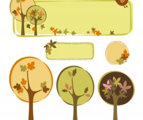 Tree style decorative frame vector