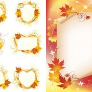 Link toMaple leaf decorative frame vector