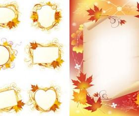 Maple Leaf decorative frame vector