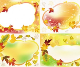 Beautiful autumn frame vector