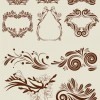 ANTIQUE FLORAL Border vector