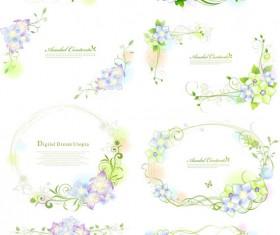 Elegant decorative floral vector
