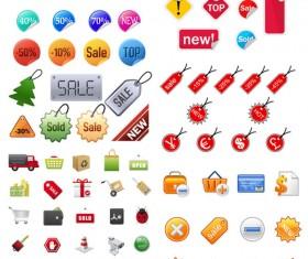 Shopping icon vector vector