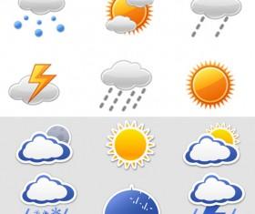 Weather icon vector vector