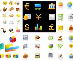 Financial icon vector vector