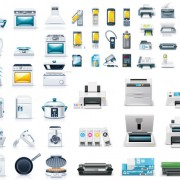 Link toSmall appliances icons vector vector