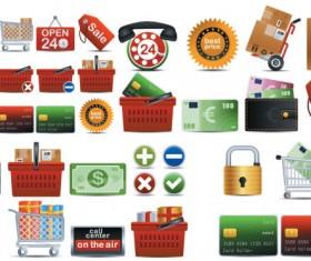 Shopping Creative icons vector