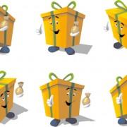 Link toCartoon box icon vector