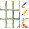 Brush and ink and color frame vector