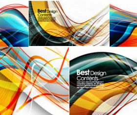 Elements of Dynamic stripe background design vector