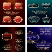 Link toClassical ornate tags vector