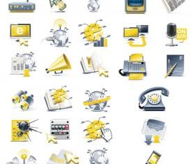 Technology 3D Icon vector
