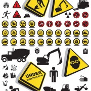 Link toConstruction safety icons vector