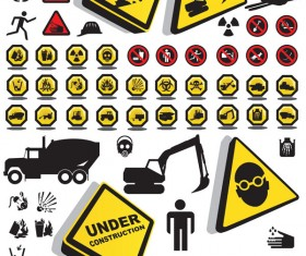Construction safety Icons vector