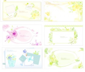 Elegant frame Floral vector