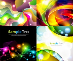 Science and technology Abstract colored wave background