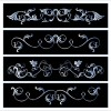 Black and white floral Border vector