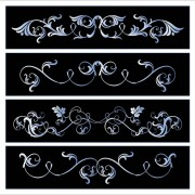 Link toBlack and white floral border vector