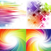 Link toElements of gorgeous rainbow background vector