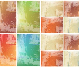 Elements of rough surface wall backgrounds vector