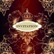 Link toOrnate invitation design vector set 05