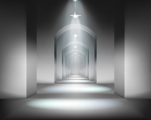 tunnel and light design elements vector 04
