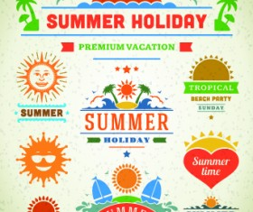 Logo and label for Summer holidays vector 01