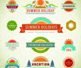 Logo and label for Summer holidays vector 02
