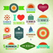 Link toLogo and label for summer holidays vector 03