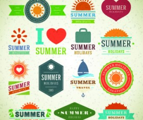 Logo and label for Summer holidays vector 03