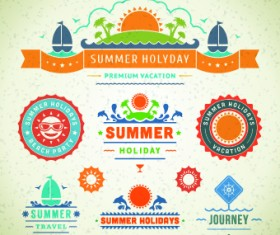 Logo and label for Summer holidays vector 04