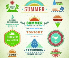 Logo and label for Summer holidays vector 05