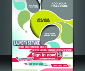 Business flyer and brochure cover design vector 01