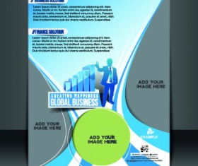 Business flyer and brochure cover design vector 10