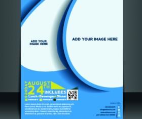 Business flyer and brochure cover design vector 11