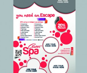 Business flyer and brochure cover design vector 14