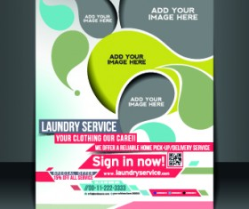 Business flyer and brochure cover design vector 16