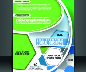 Business flyer and brochure cover design vector 18