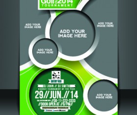 Business flyer and brochure cover design vector 02