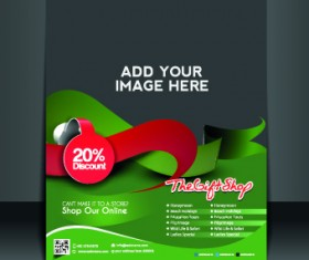 Business flyer and brochure cover design vector 20