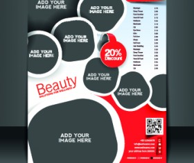 Business flyer and brochure cover design vector 23