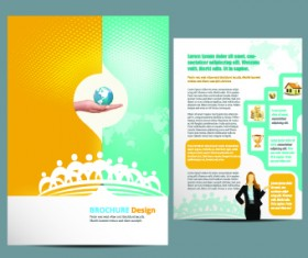 Business flyer and brochure cover design vector 26